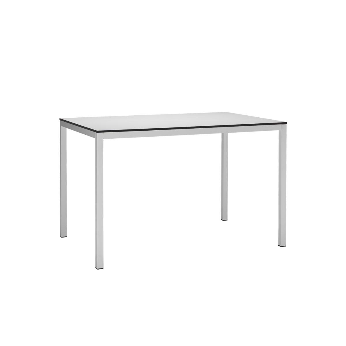 Prostokątny stół metalowy do restauracji MIRTO 120x80