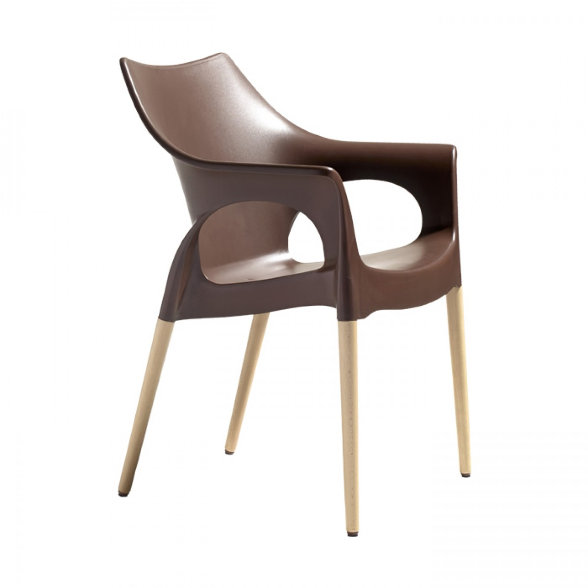 brązowe krzesło do jadalni Natural Ola Scab Design