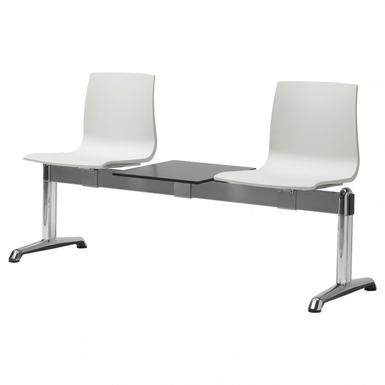 Ławka dwuosobowa do poczekalni ze stolikiem Alice Scab Design