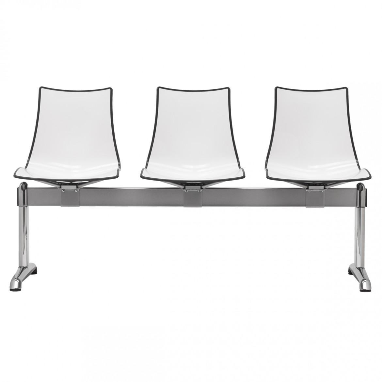 Ławka do poczekalni siedziska z tworzywa Zebra Scab Design