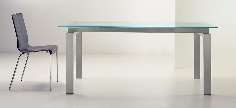 Stół szklany SPACE 160x90 Pedrali
