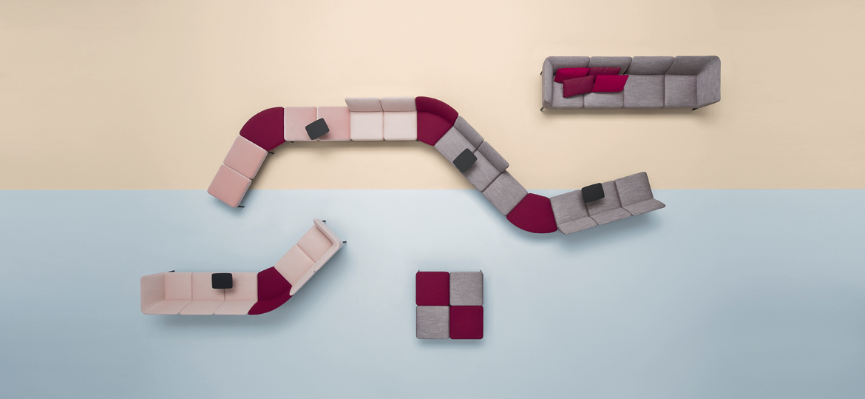 Sofa modułowa tapicerowana SOCIAL PEDRALI