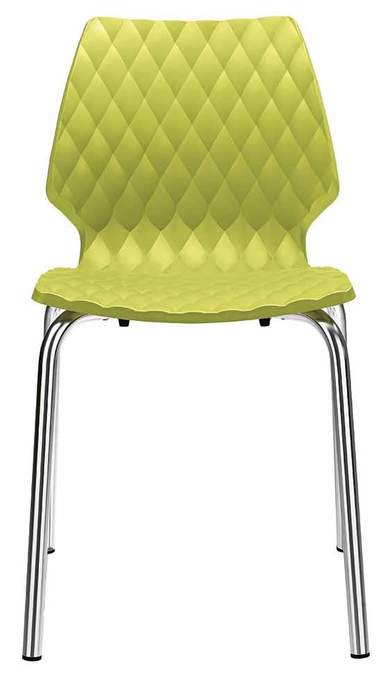 Krzesło Uni Metalmobil na chromowanych nogach