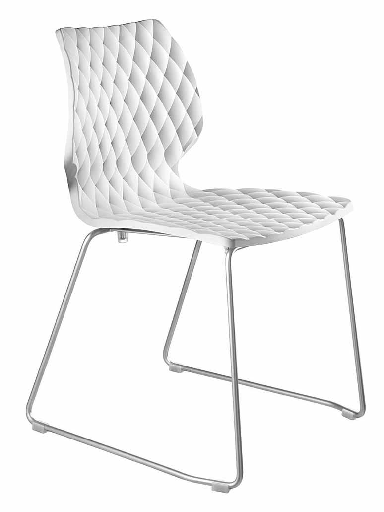Krzesło Uni Metalmobil 552 na chromowanych płozach