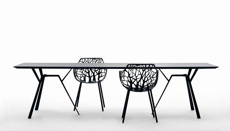 Krzesło designerskie z aluminium FOREST Fast