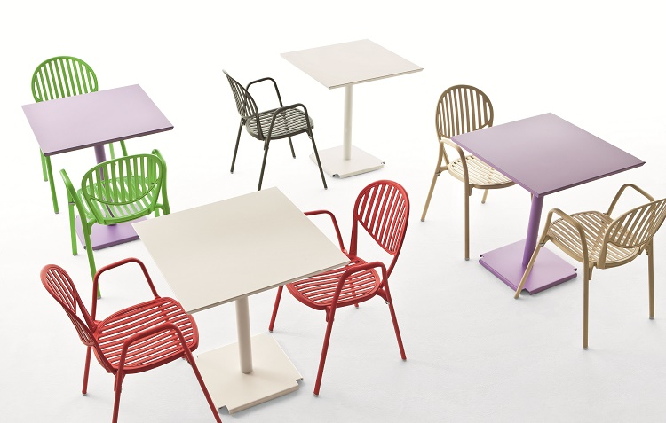 Designerskie krzesło do ogródka restauracji