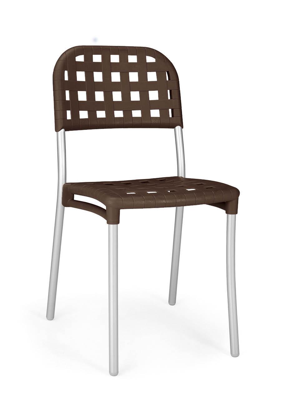 Krzesło food court Alaska Nardi brązowe