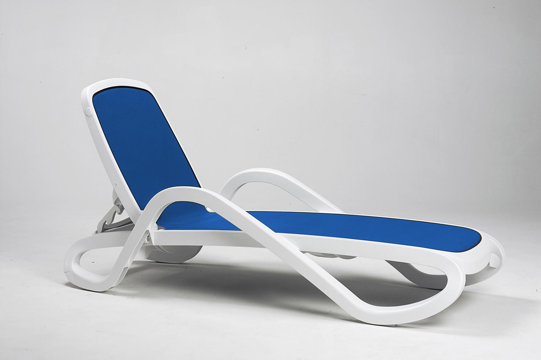 Leżak basenowy Alfa Nardi biało niebieski