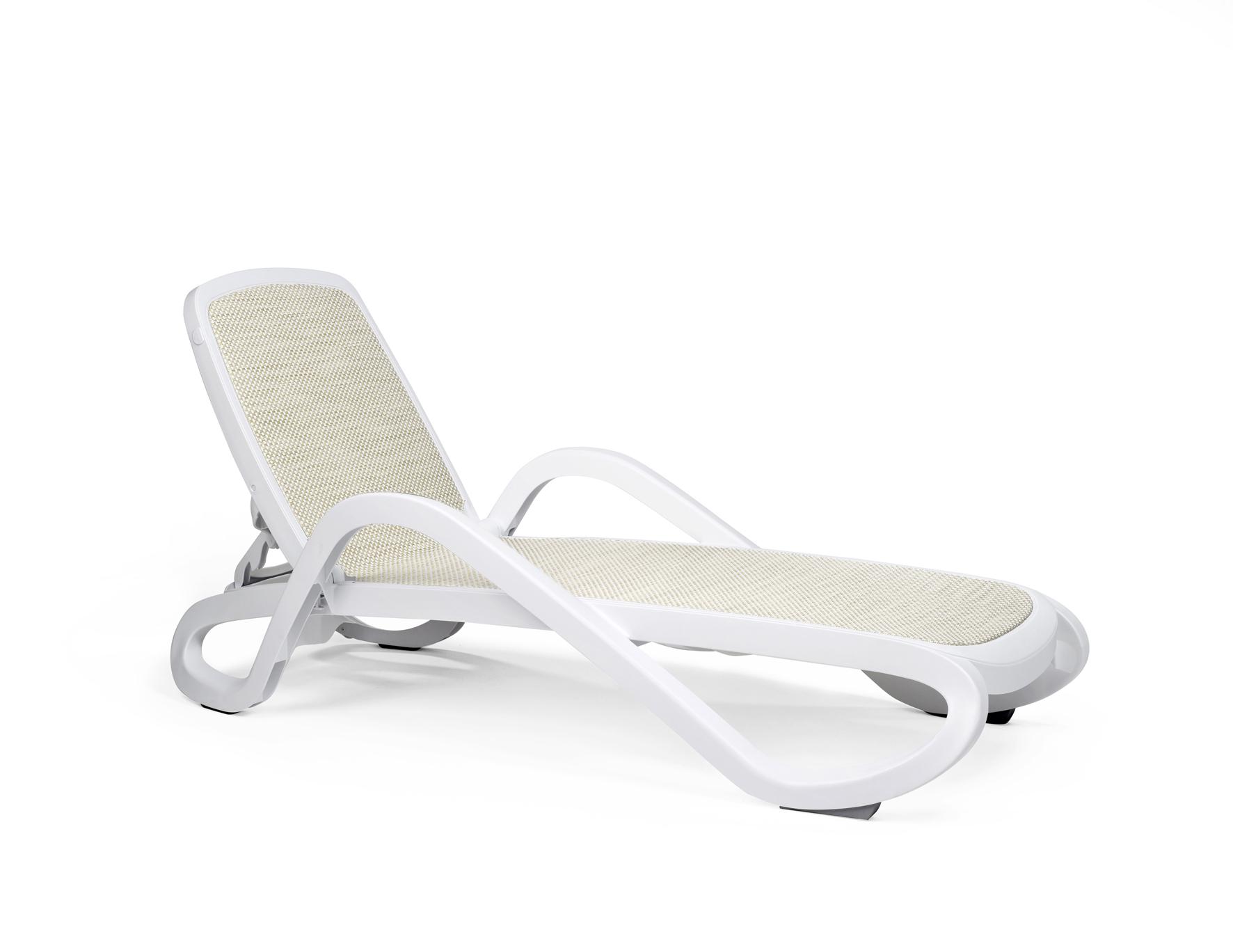 leżak basenowy Alfa Nardi biało beżowy