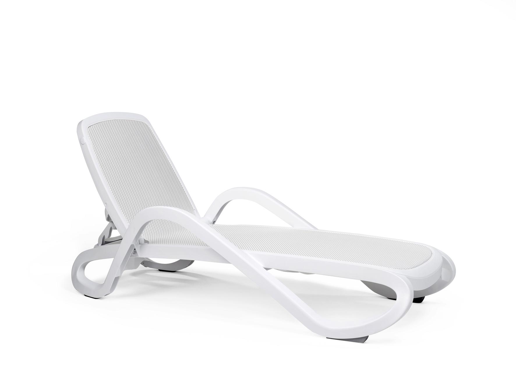 leżak basenowy Alfa Nardi biały