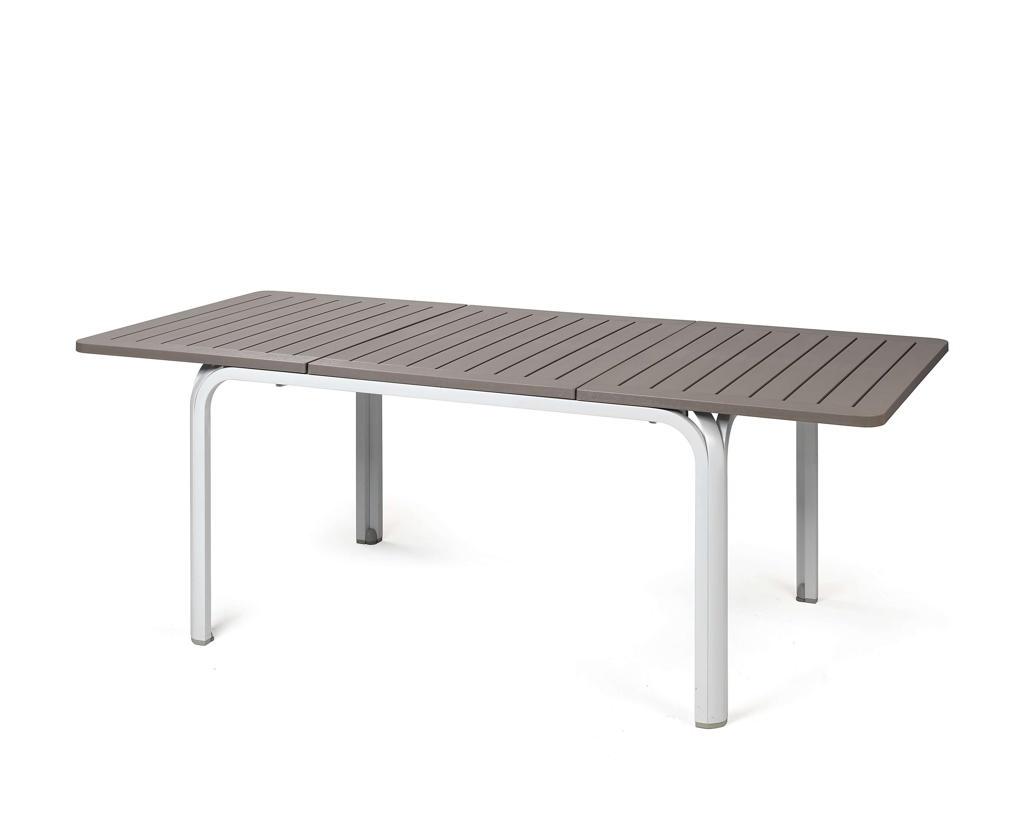 Stół na taras rozkładany alloro nardi biały tortora