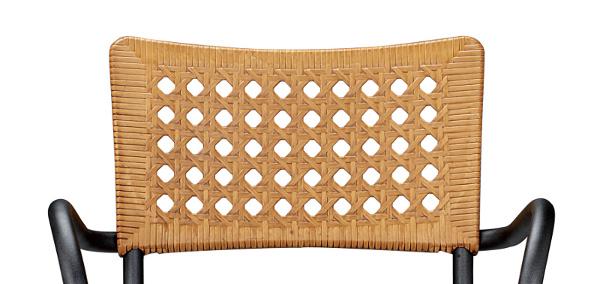 krzesło Artica Nardi słomiane antracyt