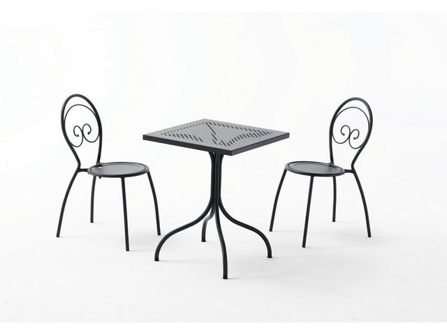 Stół ązurowy metalowy do ogródka restauracji