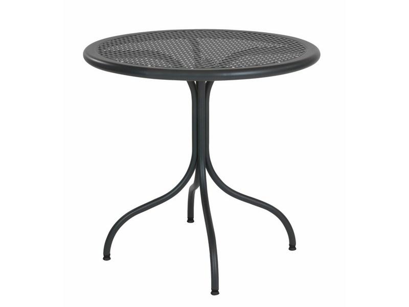 Stół okrągły ogrodowy z perforowanym blatem BISTROT 80 R