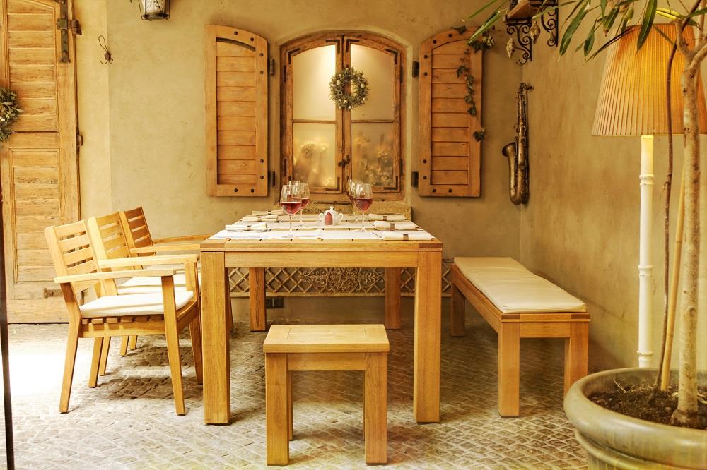 Stół drewniany Caro Rondo