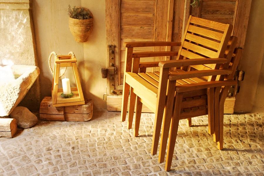 Krzesło drewniane na taras Cardo Rondo Polska