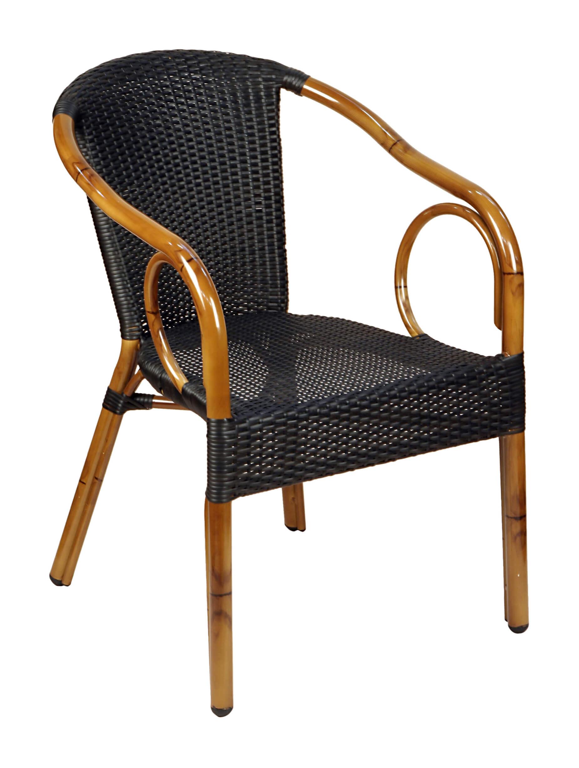 Krzesło z technorattanu Costa classic mocca