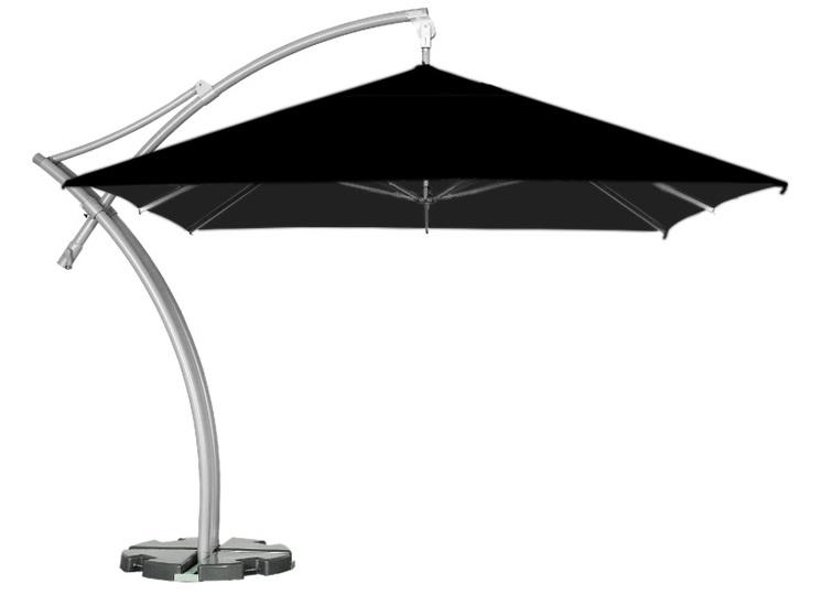 parasol ogrodowy z boczną stopą litex