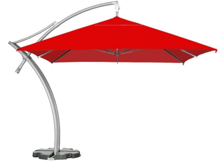 Czerwony parasol kwadratowy do ogrodu litex