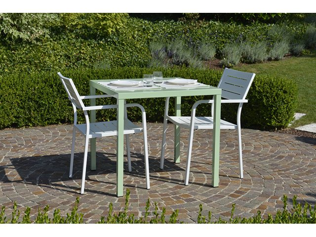 Stół kawiarniany metalowy 80x80 wodoodporny