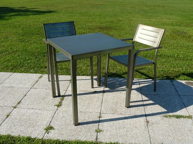 Metalowy stół do restauracji 90x90