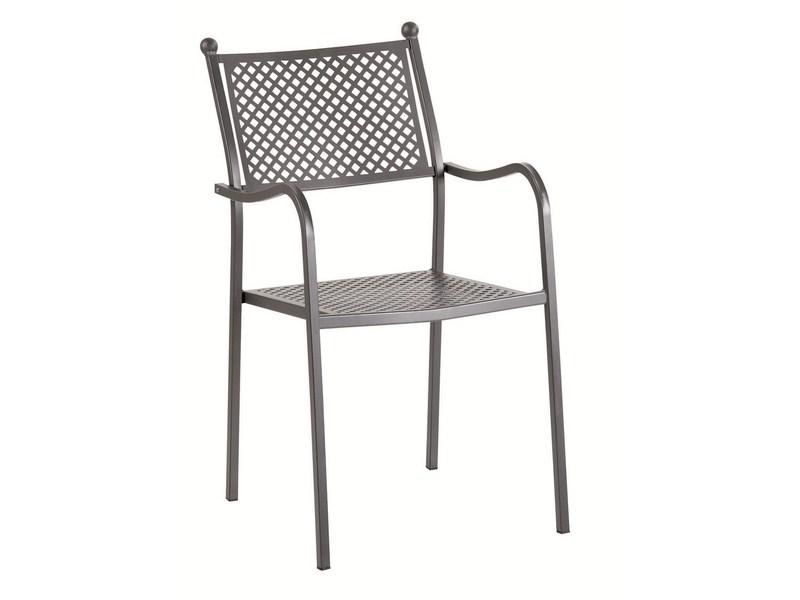Krzesło z ażurowym oparciem ogrodowe ELISA
