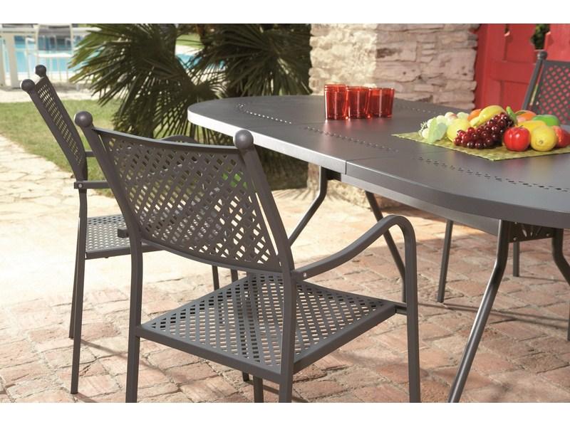 Krzesło metalowe Elisa do ogrodu ażurowe