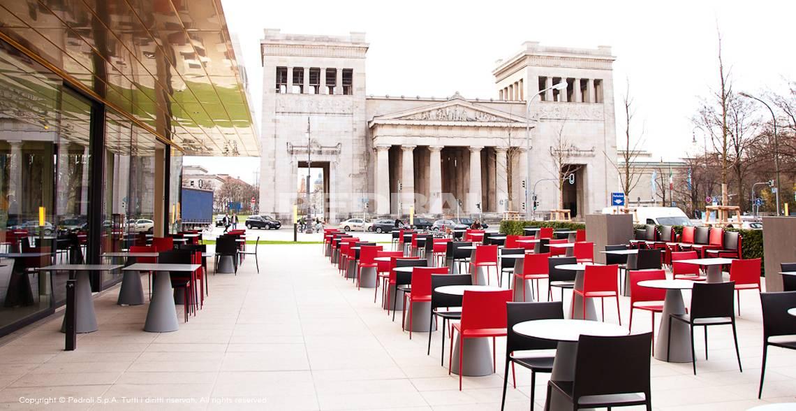 Krzesło nowoczesne do ogródka restauracji MYA Pedrali