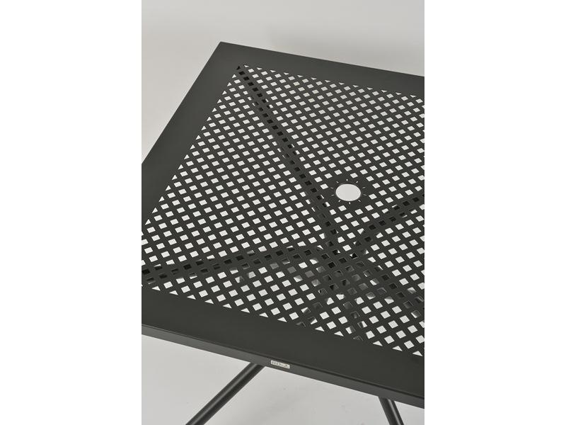 Stół metalowy z ażurowym blatem