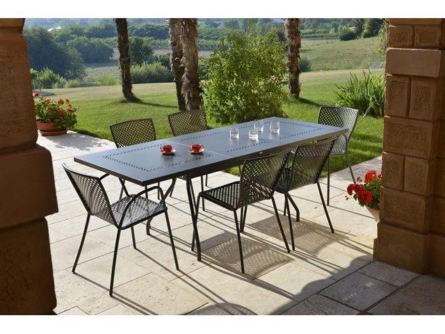 Stół metalowy do ogrodu obiadowy Estate L Rd Italia