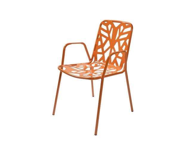 Krzesło FANCY LEAF metalowe z podłokietnikami ogrodowe