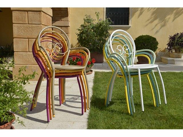 Krzesło designerskie metalowe do ogrodu FIONA