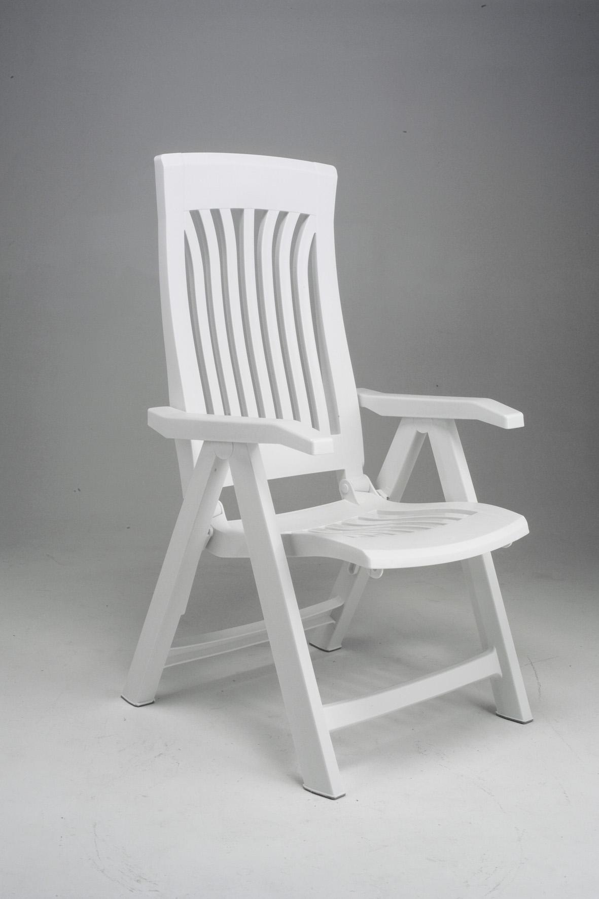 Fotel ogrodowy składany Flora Nardi biały