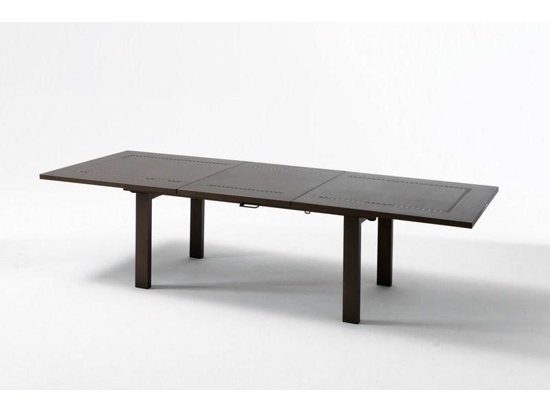 Duży stół na taras metalowy składany HELIOS XL