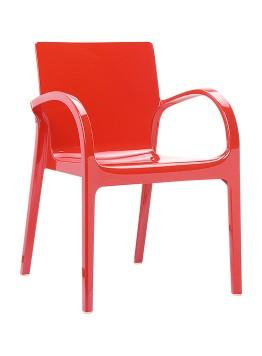 Krzesło Dejavu Siesta czerwone
