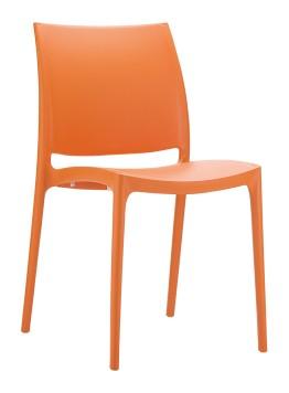 krzesło maya pomarańczowe siesta