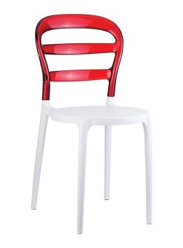 Krzesło Miss Bibi Siesta czerwone