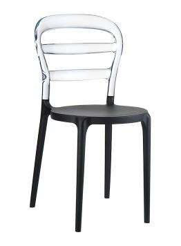Krzesło czarne Miss Bibi Siesta