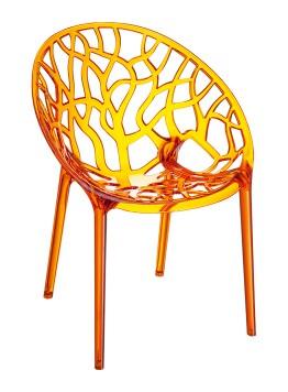 Krzesło Crystal Siesta bursztynowe