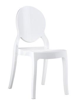 Krzesło ELIZABETH SIESTA białe