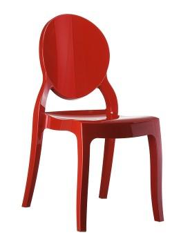 Krzesło ELIZABETH SIESTA czerwowne