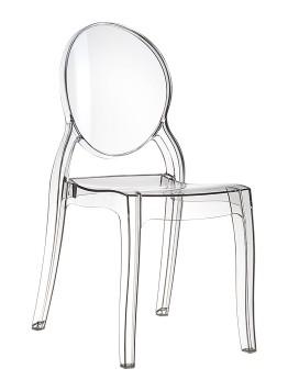 Krzesło ELIZABETH SIESTA przezroczyste