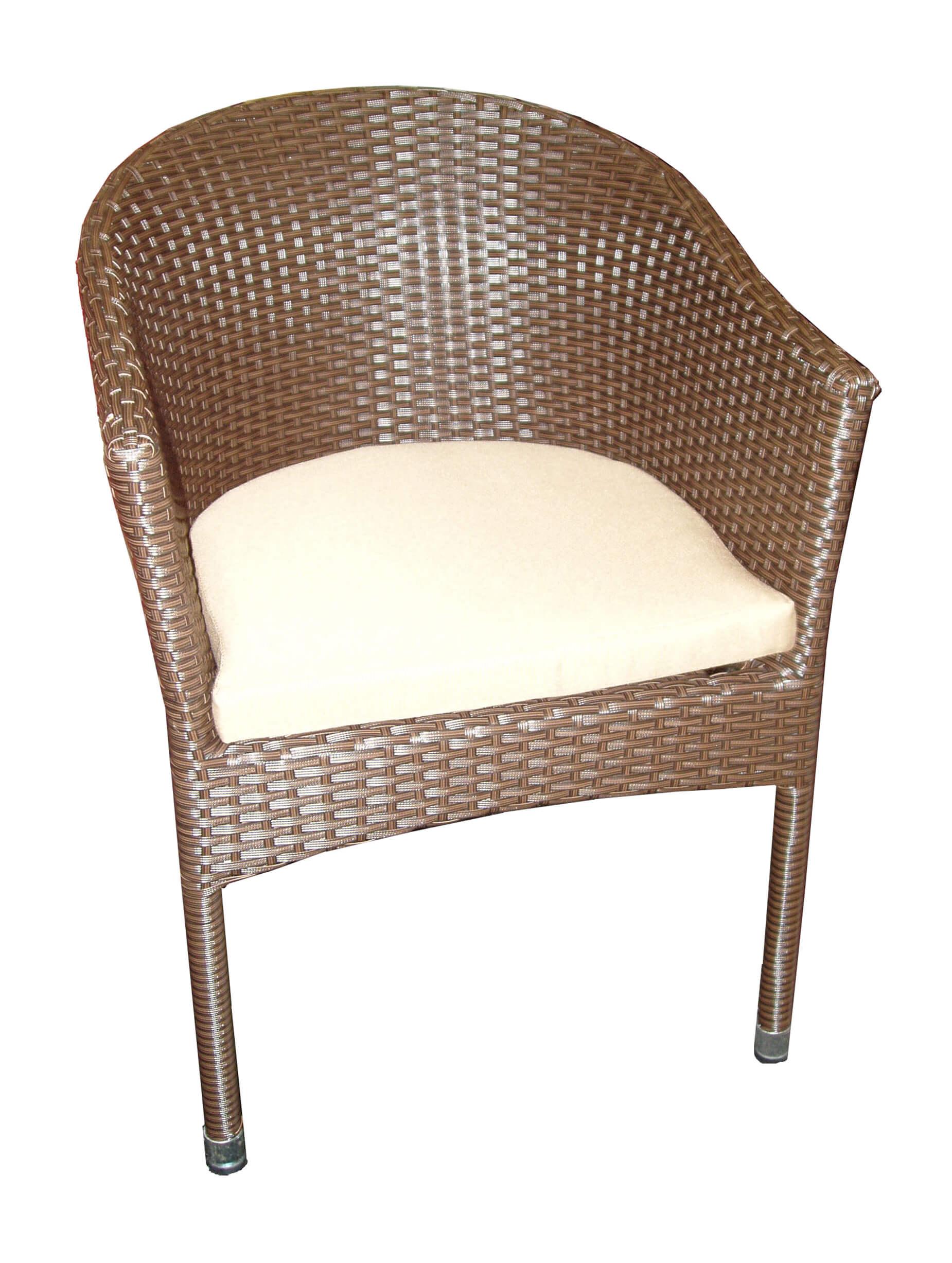 Krzesło z technorattanu LAMA brązowe