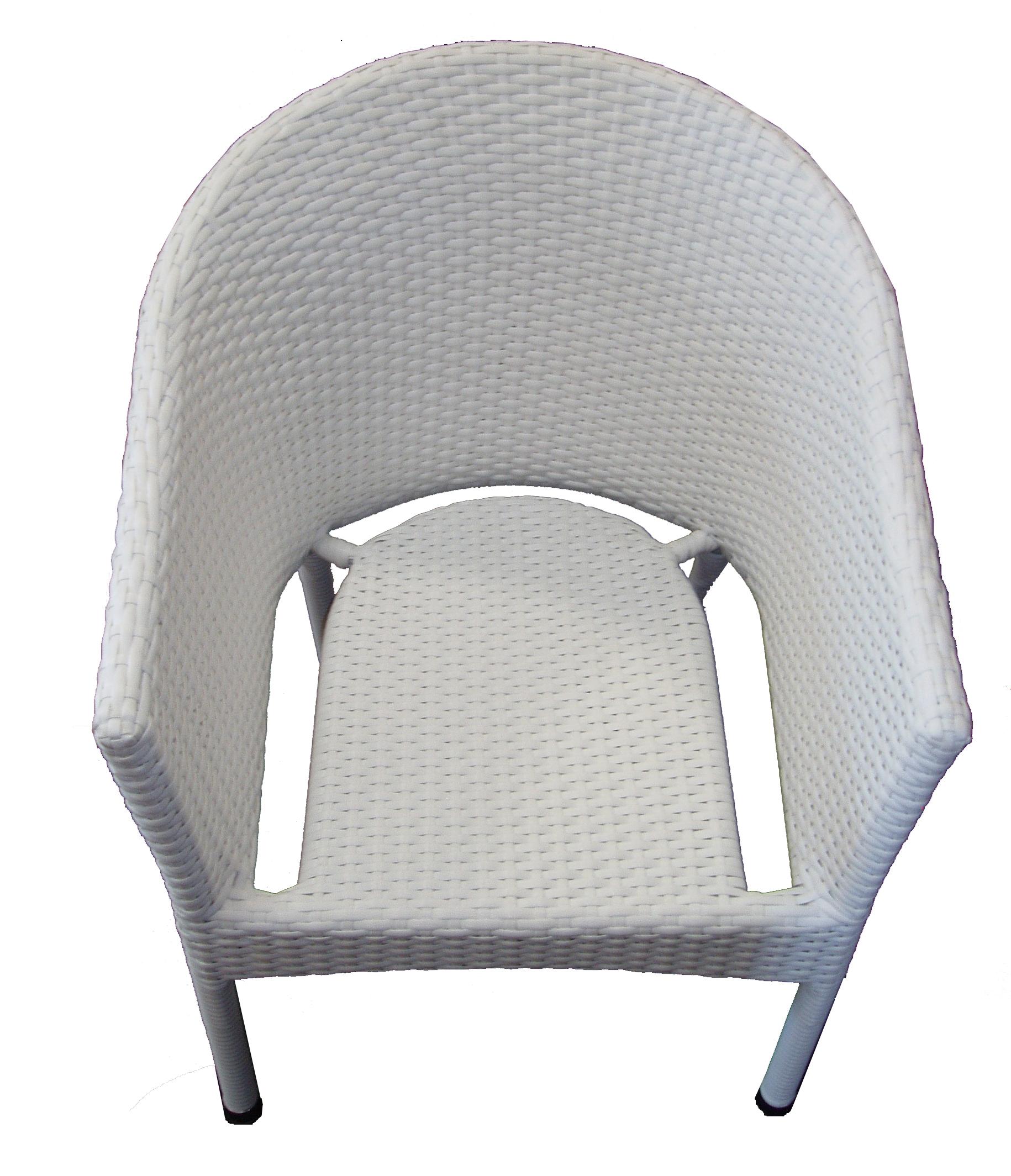 Krzesło ogrodowe z technorattanu LAMA białe