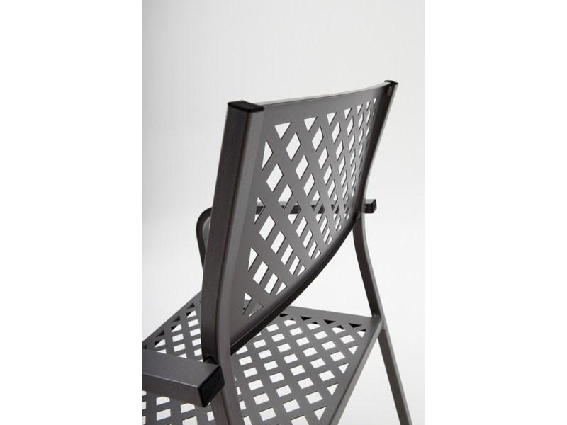 Krzesło restauracyjne ażurowe metalowe do ogrodu LOLA