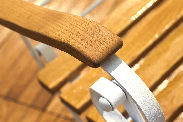 Fotel z podłokietnikami drewniany Rondo