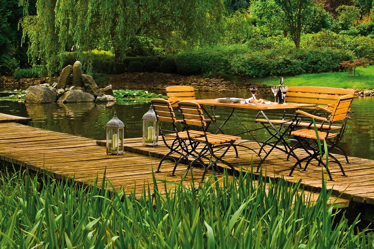 Krzesło składane na taras i do ogrodu Rondo Polska