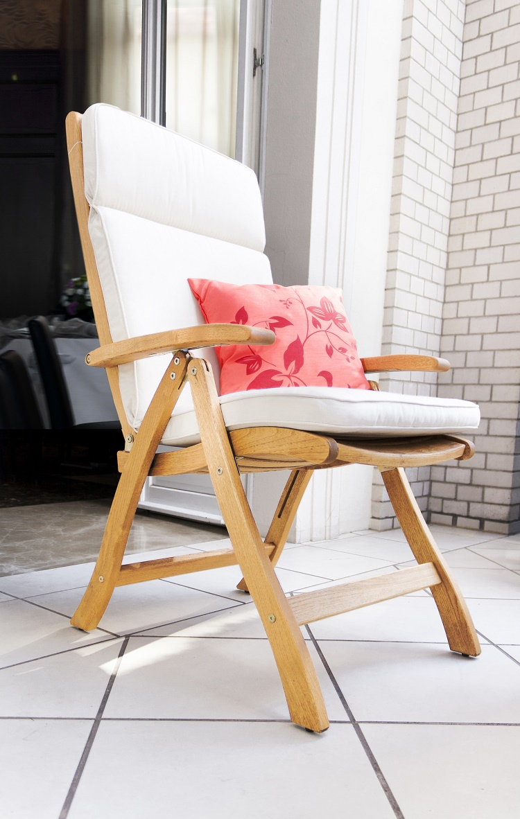 Fotel składany drewniany Manhattan rodno