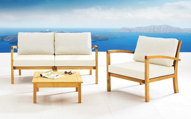 Krzesło drewniane do ogrodu Milano Rondo