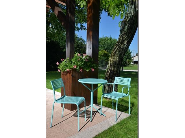 Designerskie krzesło do ogródka metalowe ażurowe